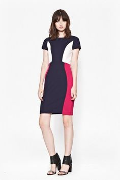 Manhattan Dress - Opulent berry tones and streamlined panels give this bodycon dress an on-trend autumnal edge. Wear with a leather jacket for instant throw-on-and-go sophistication. Sequin Dress, Bodycon Dress, French Connection Style, Dresses For Sale, Dresses For Work, Work Outfits, Masculine Style, Minimalist Fashion, Work Wear