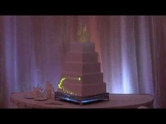The stuff you want is projected on to the cake. Super cool! Scroll through about 20 secs to see