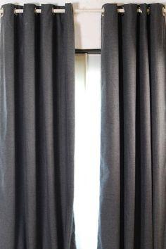 Grey Melange Curtains with Grommets - Set of 2 - Draperies & Tiebacks - Window Treatments - Linens & Fabrics | HomeDecorators.com