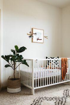 Boys minimal Earth tone nursery