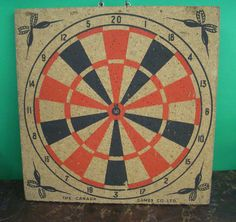 Vintage Darts & Dart Board The Canada Games Co. Box & Instructions