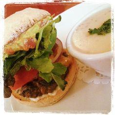 Happy Hamburger Day! Organic garlic hamburger topped with organic egg and guacamole with garlic soup on the side! YUM . . . . . . #hamburgers #hamburger #soup #garlic #egg #eggs #organicfood #organic #organiclife #burger #burger #guacamole #food #foodpic #instafood #foodstagram #recipe #recipes #homecooking #homemade #organicliving #organiclife #beef #happyday #happy #yum #wow