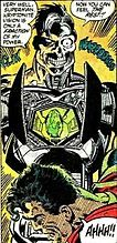 Metallo (John Corben) is a comic book supervillain and cyborg who appears in Superman stories published by DC Comics. Metallo's trademark is his kryptonite power source, which he often uses as a weapon against Superman.