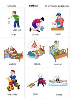 Kids Pages - Verbs 5