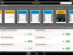 View Crystal Reports on the iPad, available in the next update for SAP BusinessObjects Mobile Crystal Reports, Income Statement, Ipad