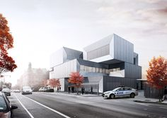 Bjarke Ingels Group has unveiled its design of a new police station in New York that will consist of intersecting blocks clad in concrete, metal and glass