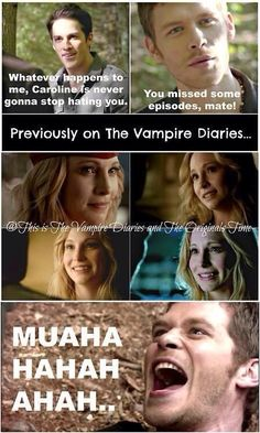Klaus just such a cute little psycho-killer, isn't he? Just worms his way right…