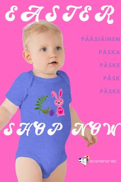 SCANDINORDIC.COM ~ MOMS, PAPAS, GRANDPARENTS ♥️💙 Order two Easter shirts and your THIRD (or this sweet bodysuit) IS FREE! 🌈 Your favourite little Bunny, Chicken or Rooster will love totally unique, super soft shirts 🐰 ✨ customize with name or text FREE *** We ship from EU and USA 10-14 days but we encourage you to order earlier this year! 😍 🎀 ~ SCANDINORDIC.COM  . . . . . . . . . #easteroutfit #babyfashionista #scandinavian #nordic