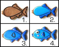 How To Make A Fish Decorated Cookie via #TheCookieCutterCompany www.cookiecuttercompany.com