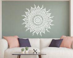 Mandala wall decal | Etsy