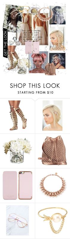 """white goddess"" by ellamy ❤ liked on Polyvore featuring Lancer Dermatology, Camilla Christine, nooki design, Ted Baker, Ellen Conde and Alexander McQueen"