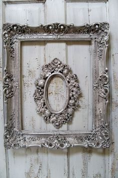 old + old frames + silver spray paint + distress