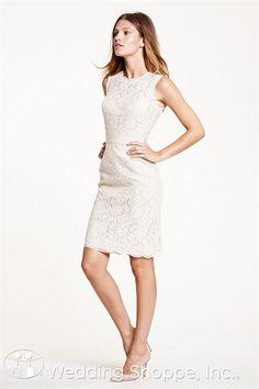 Elegant lace reception dress.  Encore by Watters Bridal Gown Carita / 5225E
