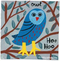 Blue owl by Lesley Grainger