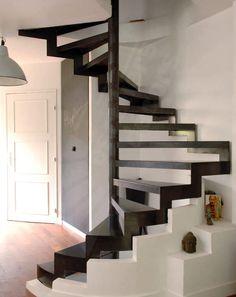 escalier limon central droit descente escalier. Black Bedroom Furniture Sets. Home Design Ideas
