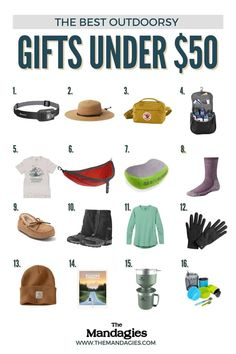 If you're looking for the perfect outdoor gifts under $50, we're sharing everything from clothing to gear, to camping for your outdoor lover! #camping #giftguide #outdoorgifts #holiday2021 #christmas Capitol Reef National Park, Joshua Tree National Park, Canyonlands National Park, Outdoor Gifts, Travel Route, Outdoor Photography, Pacific Northwest, Tent, Road Trip