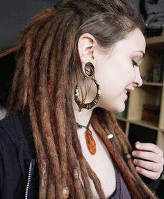 Natural Dreads, Natural Hair Twists, Natural Hair Updo, Natural Hair Styles, Cute Dreads, Beautiful Dreadlocks, Dreads Girl, Dreadlock Hairstyles, Messy Hairstyles
