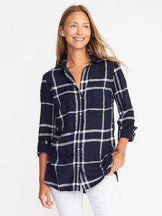 Relaxed Soft-Washed Classic Shirt for Women    Old Navy