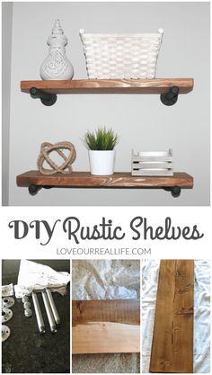 DIY Rustic Wood Shel