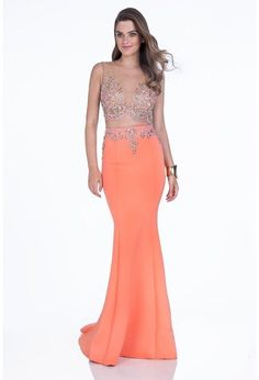 Terani Evening - 1611P1011A Two-Piece Crystal Studded Mermaid Dress