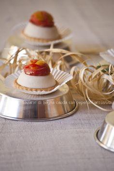 Savarin di bagna caoda con peperoni arrostiti (da una ricetta di Luca Montersino)