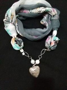 Handmade jewel foulard