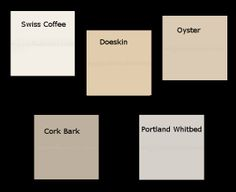 Interior Paint Colors Frequently Used In The Homes We Sell