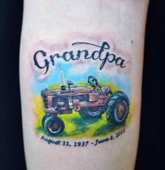 Farmall tractor tattoo