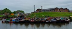 Easter boat gathering Ellesmere Port (our boat is the one on the end, left)