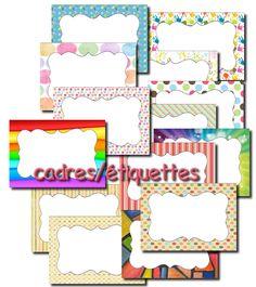 La maternelle de Laurène: cadres / étiquettes à personnaliser