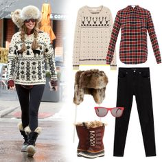 The only accessory you need with this winter outfit is a cup of hot chocolate