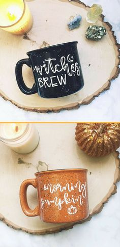 Witches Brew and Morning Pumpkin Campfire Mugs | Coffee | Hot Cocoa | Witches Brew | Morning Pumpkin | Fall | #ad
