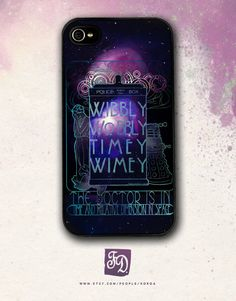 Iphone 4 / 4s hard or rubber case Doctor Who ,  The Weeping Angel , Dalek. $15.00, via Etsy.