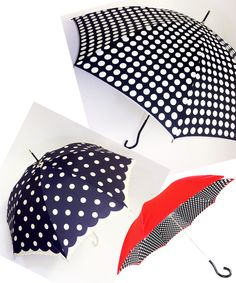 Polka Dot Umbrellas