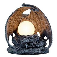 Gothic Lamp Dragon   Dragon Lamp by Medieval Collectibles