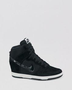 8cf5fe78a43 Nike Lace Up High Top Wedge Sneakers - Women s Dunk Sky Hi Essential Nike  Wedge Sneakers
