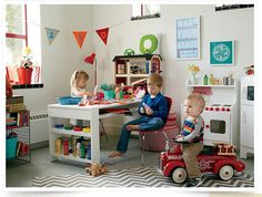 Hedin Family | The Land of Nod | click on this link - such a cute little playroom!
