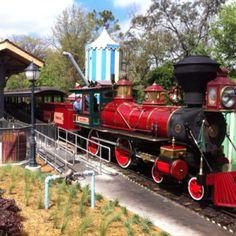 Walt Disney World Railroad as seen from Fantasyland Station