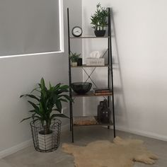 I love these industrial ladders from Kmart! Makes archiving odd places easy! - I love these industrial ladders from Kmart! Makes archiving odd places easy! Interior Design Living Room, Living Room Decor, Bedroom Decor, Bedroom Ideas, Ladder Shelf Decor, Kmart Decor, Corner House, Lounge Decor, Bedroom Styles