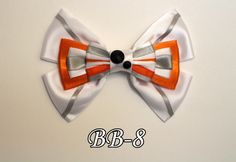 Star Wars BB-8 Hair Bow by TheCraftinOurCoffee on Etsy https://www.etsy.com/listing/262688022/star-wars-bb-8-hair-bow
