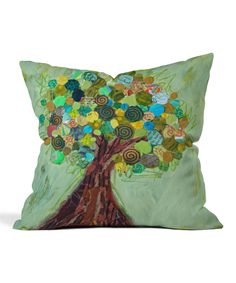 Take a look at this Elizabeth St. Hilaire Nelson Spring Tree Fleece Throw Pillow today!