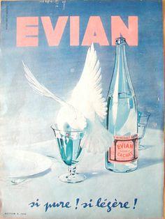 evian, si pure ! si légère ! #evian #liveyoung #poster #vintage
