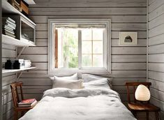 Charming Norwegian-style Log Cabin Packed with Iconic Design Pieces - Nordic Design Cabin Decor, Scandinavian Cabin, Bedroom Design, Cabin Design, Cottage Interiors, House, Interior Design, Scandinavian Cottage, Cabin Interiors