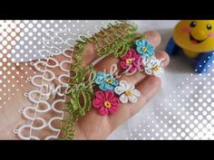 Mekik Oyası Dolgulu Havlu Kenarı Modelinin Anlatımlı Yapılışı - YouTube Needle Tatting, Needle Lace, Tatting Patterns, Lace Making, Needlework, Crochet Earrings, Elsa, Knitting, How To Make
