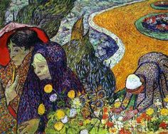Vincent van Gogh. Ladies of Arles (Reminiscence of the Garden at Etten). November 1888. Oil on canvas. The Hermitage, St. Petersburg, Russia.