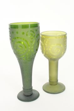 Swazi Glass| African Recycled Glassware| Recycled Wine Glass