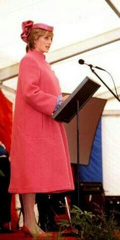 April 7, 1982: Princess Diana at the opening of a new Sony factory in Bridgend, Mid-Glamorgan.