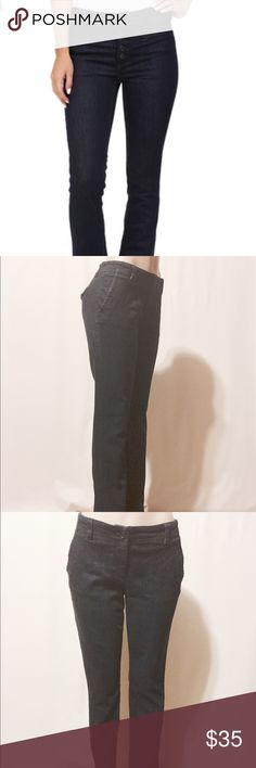 """✨ Trouser Slim Stretch Low Rise Jeans Darkest blue, low rise jeans. Slash front pockets, back flaps with buttons pockets.   98% Cotton 2% Lycra  Machine washable  31"""" inseam  42""""out seam  9"""" rise  14"""" leg opening   Perfect condition Jeans Straight Leg"""