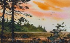 Tideland Dawn Painting by James Williamson - Tideland Dawn Fine Art Prints and Posters for Sale