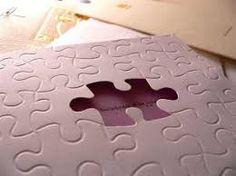 Risultati immagini per trouwkaart puzzel